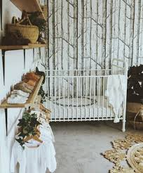 Woodland Decor Nursery Storage Organization Woodland Nursery Wall Closet Organizing