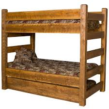 Barnwood Bunk Beds Beds And Headboards Barnwood Bunk Bed W Trundle Bw73