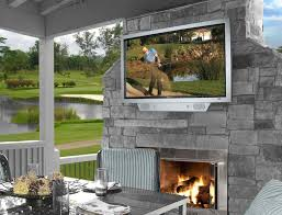 Patio Kitchen Modern Outdoor Fireplace With Tv Fresh In Cool And Fireplaces