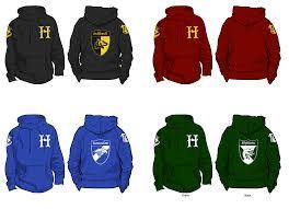 harry potter house hoodie verboom badges and tees