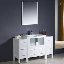 shop fresca bari white undermount single sink bathroom vanity with