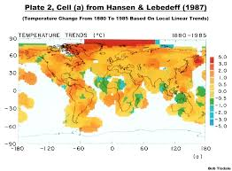 World Temperatures Map by Changes To The Giss Land Surface Air Temperature Based Dataset