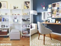 attractive office makeover style girlfriend home office before