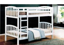 white rubber wood double decker bed