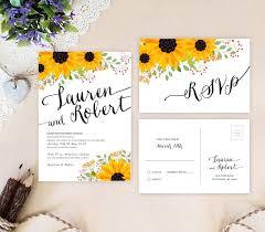 sunflower wedding invitations rustic sunflower wedding invitations lemonwedding