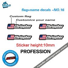 Custom Burgee Flags Flag And Name Sticker Mountain Bike Frame Logo Personal Name