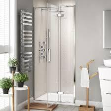 Easy Clean Shower Doors 1100mm Easy Clean Hinged Shower Enclosure 8mm Bathroom Cubicle
