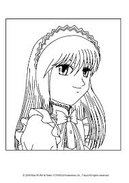 tokyo mew mew aliens coloring pages hellokids com
