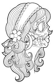 sugar skull rose tattoo coloring pages with snapsite me