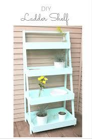 Diy Ladder Bookshelf Diy Ladder Shelf Making It In The Mountains