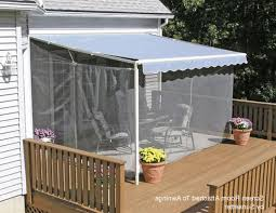 screen porch kits install on awnings to make a porch enclosure