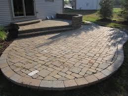 paver patio edging options square paver patio