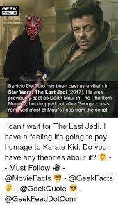 Nerd Karate Kid Meme - 25 best memes about darth maul darth maul memes