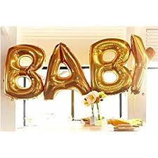 gold letter balloons b g baby 40 inch large balloon set gold
