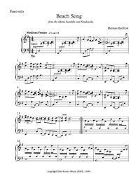 song from seashells and sandcastles sheet piano