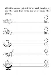 phonic word picture match words ending with