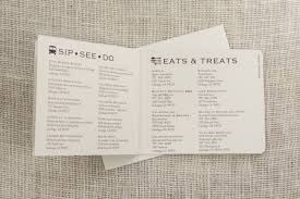 wedding itinerary napa valley california 3pg weekend wedding itinerary booklet with