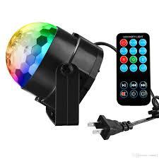sound activated dj lights 3w led crystal magic ball lights sound activated dj stage lights