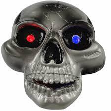 led light up skull belt buckle with free belt