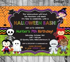 Ideas For A Halloween Birthday Party by Halloween Birthday Party Invitations U2013 Il Fullxfull Best Images