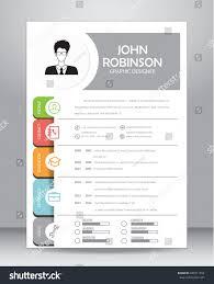 Resume Vector Job Resume Cv Template Layout Template Stock Vector 440311294