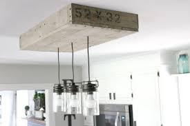 Kitchen Island Light Remodelaholic How To Make A Pallet Wood Light Box