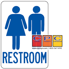co ed bathroom sign bathrooms cabinets