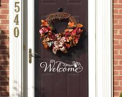 fall door decor etsy