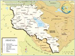 Middle East Map Capitals political map of armenia nations online project