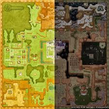 Worlds Map by The Legend Of Zelda U0027 U0027a Link Between Worlds U0027 U0027 Map By Michelrt On
