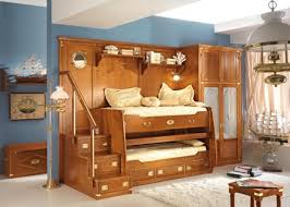 Bedroom  Inspiring Design Ideas Of Boy Bedroom With Cream Blue - Under bunk bed storage drawers