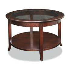 cherry end table glass top coffee display case tables round 23835