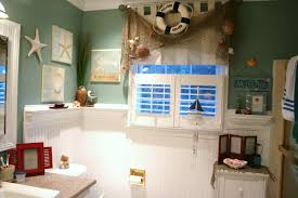 Beachy Bathroom Mirrors by Bathroom Nautical Themed Bathroom Beachy Decor Seashell Wall