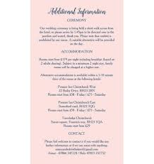 wedding ceremony card navy pink guest information card from 0 75 each