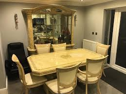 dining table and showcase cabinet for sale italian style in