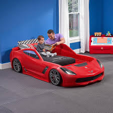 Blue Car Bed Diy Toddler Beds For Boys Wooden Drawer Unique Chair Red Car Bed