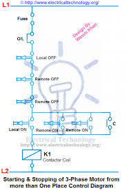 wonderful contactor wiring diagram 2 starting amp stopping of 3