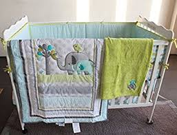 amazon com blue elephant 8pcs crib set baby bedding set crib