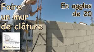 bloc de pierre pour mur monter un mur en parpaing 1 presentation youtube