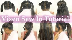 best way to sew in a weave for long hair install vixen sew in by yourself from start easy braid pattern