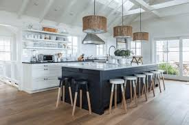 white kitchen black island vaulted ceiling pictures black wood cabinet black white island