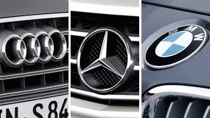 mercedes logos audi bmw and mercedes in a no holds barred battle for no 1 the