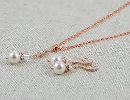 pearls necklace set jewellery images Swarovski pearl jewelry set pearl earrings pearl necklace rose jpg