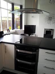 white kitchen island breakfast bar sleek modern black white kitchen with breakfast bar glass