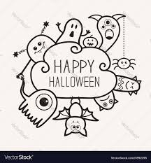 happy ghost clipart happy halloween countour outline doodle ghost vector image