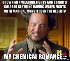 Men In Tights Meme - grown men wearing tights and brightly colored clothing having water