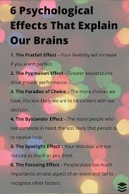 6 psychological effects that affect how our brains tick