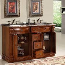 silkroad exclusive 55 inch double sink bathroom vanity baltic