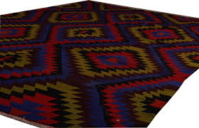 Navajo Home Decor by Kilim Rug For Bohemian Home Decor 6 Colors Diamond Chevron Kilim