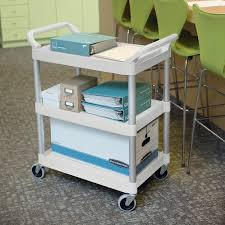 Rubbermaid Changing Table Fg342488owht White Three Shelf Utility Cart Cart 33 X 18